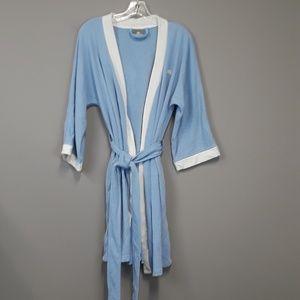 Lacoste short blue bath robe